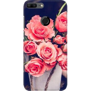 Coberta Case Designer Printed Back Cover For Huawei Honor 9 Lite - Pink Roses Design