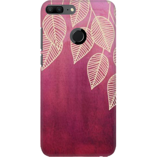 Coberta Case Designer Printed Back Cover For Huawei Honor 9 Lite - Leafs Design