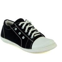 Shoe Island Trending Black Canvas Casual Shoes