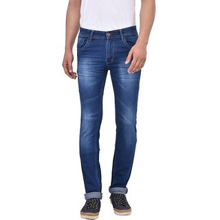 Stylox Men's Stretchable Slim Fit Casual Wear Dark Blue Jeans
