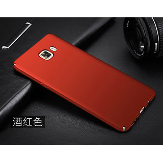 For Samsung Galaxy J7 Max Rubberized Hard Matte ipaky back Case Cover...red