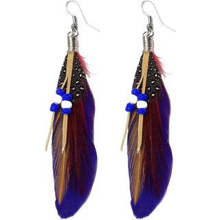 Feather Purple Earrings - 725
