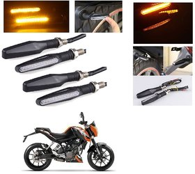 AutoStark Motorcycle AMBER LED Turn Signal Indicators Light Lamp Regal Raptor 4Pcs  KTM Duke 200