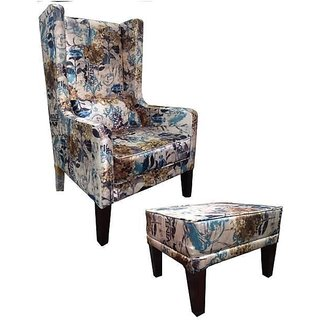 Earthwood -  MORGEN WING CHAIR with OTTOMAN