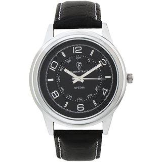 Optima Corporate Look Black Dial Analog Watch