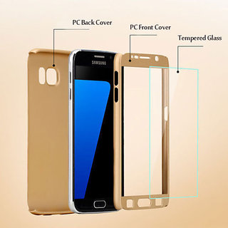 separation shoes ef33f 5d781 Samsung Galaxy J7 Max 360 DEGREE FULL BODY PROTECTION FrontBack Cover Case  gold
