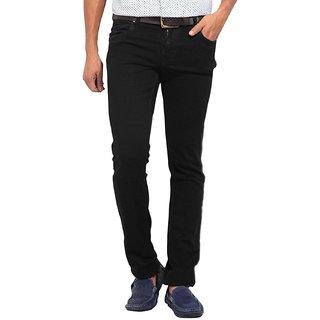 Stylox Men's Slim Fit Casual Wear Black Jeans
