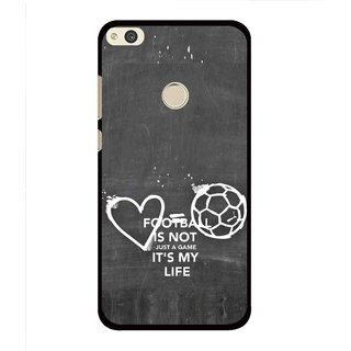 Snooky Printed Football Life Mobile Back Cover For Huawei Honor 8 Lite - Multi