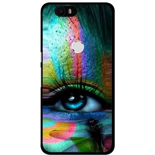 Snooky Printed Designer Eye Mobile Back Cover For Huawei Nexus 6P - Multi