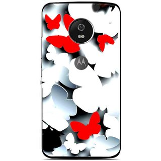 Snooky Printed Butterfly Mobile Back Cover For Moto G5 - Multi