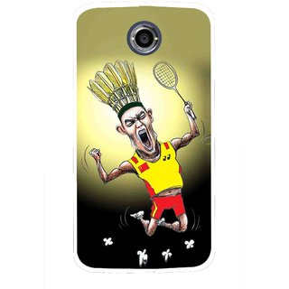 Snooky Printed Adivasi Sports Mobile Back Cover For Motorola Nexus 6 - Multicolour
