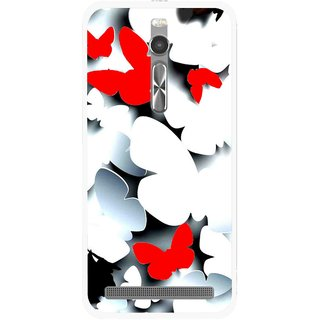 Snooky Printed Butterfly Mobile Back Cover For Asus Zenfone 2 - Multi