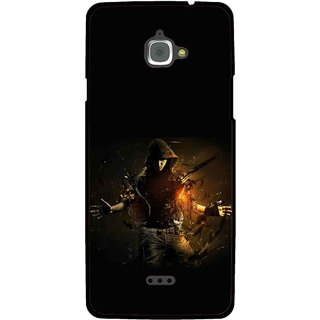 Snooky Printed Dancing Boy Mobile Back Cover For Infocus M350 - Multi