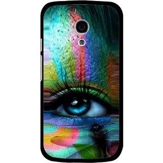 Snooky Printed Designer Eye Mobile Back Cover For Moto G2 - Multi