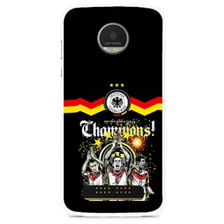 Snooky Printed Champions Mobile Back Cover For Moto Z - Multi