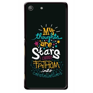 Snooky Printed Thoughts Are Stars Mobile Back Cover For Sony Xperia M5 - Multicolour