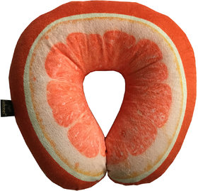 Lushomes Mouthwatering Citrus U-Shaped Fruit Pillows (Single pc packed in a PVC bag, 35 x 35 Cms)