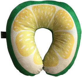 Lushomes Mouthwatering Sweet Lime U-Shaped Fruit Pillows (Single pc packed in a PVC bag, 35 x 35 Cms)