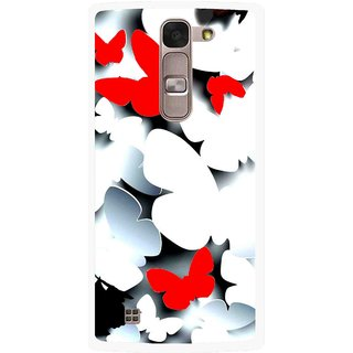 Snooky Printed Butterfly Mobile Back Cover For Lg Magna - Multi