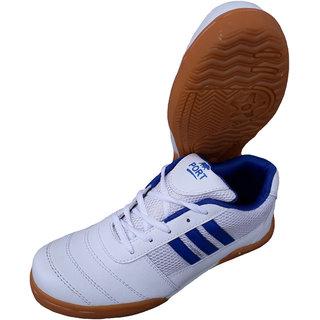 Port Pro Smash Women White Badminton Sports Shoes