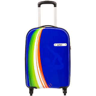 91b7d6f98a Buy Safari Skipper 55 India Flag Luggage Trolley Bag Blue Online ...