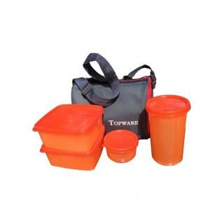 shopeleven Lunch Box - 4 Container with Insulated Bag(ASSORTED)