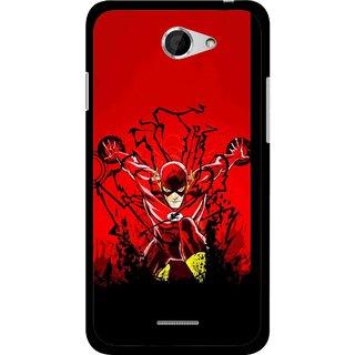 Snooky Printed Super Hero Mobile Back Cover For HTC Desire 516 - Multicolour