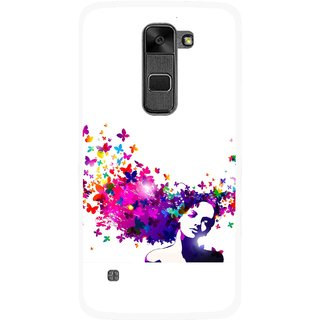 Snooky Printed Flowery Girl Mobile Back Cover For Lg Stylus 2 - Multi