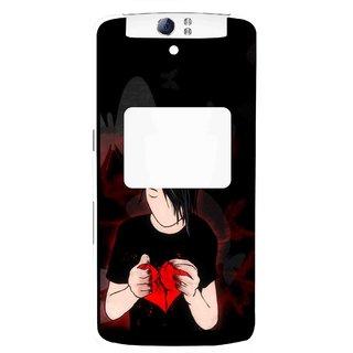 Snooky Printed Broken Heart Mobile Back Cover For Oppo N1 - Multi