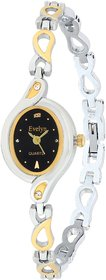 Evelyn Stainless Steel Gold Plated Wrist Watch for Women-EVE-542