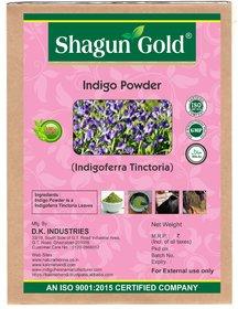 Shagun Gold Natural Indigo powder (Indigofera Tinctoria ) 400g x 2