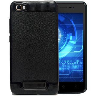newest f4c64 78504 Lava A97 Soft Back Cover With Camera Protection (Black)