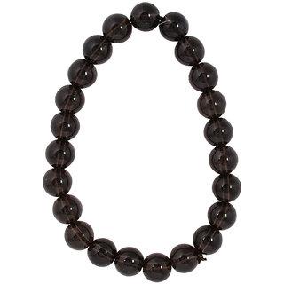 Astroba Smoky Quartz Bracelet Lab-certified Astrology jewellery Black Round 8mm stones
