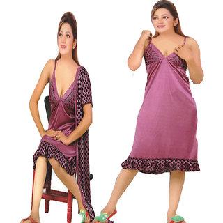 369719d2da Buy Saroj Printed satin free size nighty