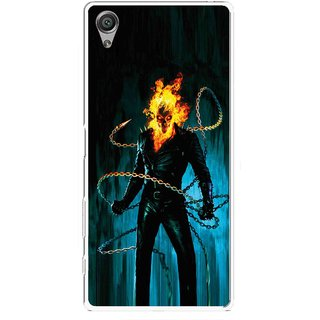 Snooky Printed Ghost Rider Mobile Back Cover For Sony Xperia X - Multicolour