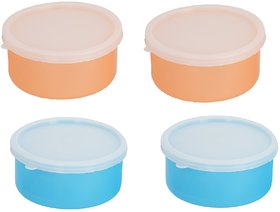 Carrolite Combo 2 Orange-2 Blue Plastic Container