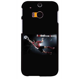 Snooky Printed Football Passion Mobile Back Cover For HTC One M8 - Multicolour