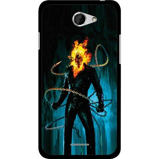 Snooky Printed Ghost Rider Mobile Back Cover For HTC Desire 516 - Multicolour