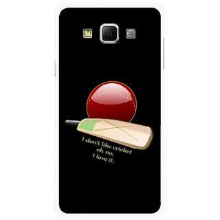 Snooky Printed Cricket Lover Mobile Back Cover For Samsung Galaxy E5 - Multicolour