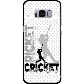Snooky Printed Cricket Mobile Back Cover For Samsung Galaxy S8 - Multicolour