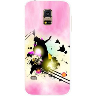 Snooky Printed Flying Man Mobile Back Cover For Samsung Galaxy S5 Mini - Multicolour