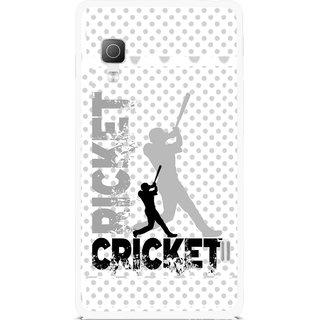 Snooky Printed Cricket Mobile Back Cover For Lg Optimus L5II E455 - Multicolour