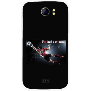 Snooky Printed Football Passion Mobile Back Cover For Micromax Canvas 2 A110 - Multicolour