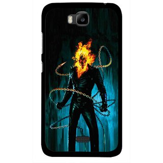 Snooky Printed Ghost Rider Mobile Back Cover For Huawei Honor Bee - Multicolour