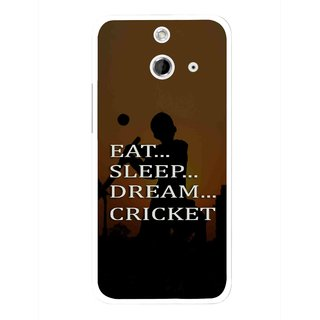 Snooky Printed All Is Cricket Mobile Back Cover For HTC One E8 - Multicolour