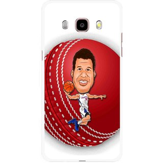Snooky Printed Cricket Club Mobile Back Cover For Samsung Galaxy J5 (2017) - Multicolour