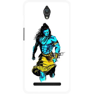 Snooky Printed Bhole Nath Mobile Back Cover For Asus Zenfone C - Multicolour