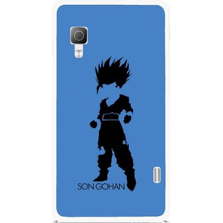 Snooky Printed Son Gohan Mobile Back Cover For Lg Optimus L5II E455 - Multicolour