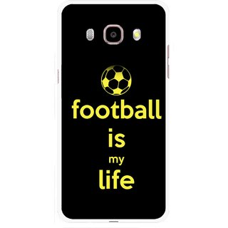 Snooky Printed Football Is Life Mobile Back Cover For Samsung Galaxy J5 (2017) - Multicolour