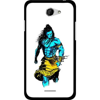 Snooky Printed Bhole Nath Mobile Back Cover For HTC Desire 516 - Multicolour